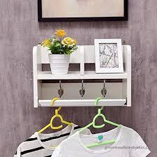 coat rack wall mount modern minimalist particle board hanger storage shelf for living room bedroom color