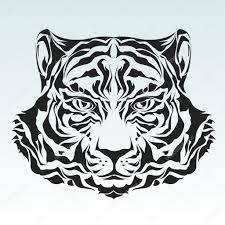 трайбл тигр голова тигра векторное изображение Silvertiger 2702913