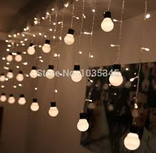novelty outdoor lighting 48beads with10 big size 5cm ball string led starry light rope patio decor