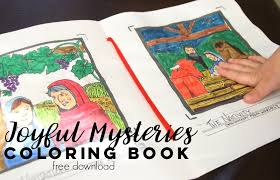 630 x 817 file type: Joyful Mysteries Of The Rosary Free Coloring Book Catholic Sprouts