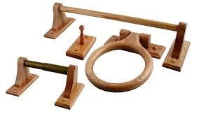 wood towel rack with hooks. LDR 165 9955 Rustic Oak 4 Piece Bathware Set Including 24-Inch Towel Bar, Ring, Robe Hook, And Toilet Paper Holder - Wax Rings Amazon.com Wood Rack With Hooks