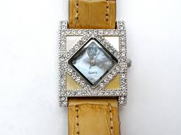 paolo gucci watch brown leather band the jewelry lady s store paolo gucci watch brown leather band
