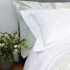 spring green gingham duvet cover