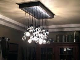 edison bulb pendant light bulb light fixture custom made wood and metal hanging bulb chandelier light