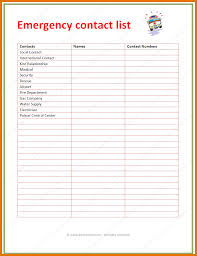 Phone Number Template Emergency Phone Number List Template Complete Guide Example 18