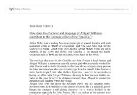 example about essays on the crucible by arthur miller arthur miller wrote plays as a way of showing people the real picture of what life was really like during the great depression and after world war ii