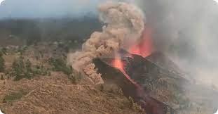 Ein blick über die caldera auf la palma. Hrokdpjxcgurjm