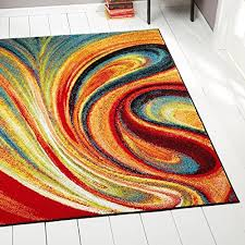 deal home dynamix splash adja area rug contemporary living room rug abstract brushstrokes bold and vibrant palette red blue green 7 10