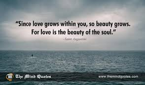 Beauty And Soul Quotes Best Of Saint Augustine Quotes On Beauty And Love Themindquotes