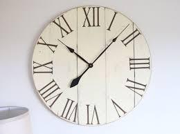 shabby chic wall clock large white