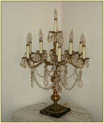 antique crystal chandelier table lamps home design ideas intended for decor 19