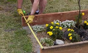 how to build a garden. Person Setting Out The Garden Bed How To Build A