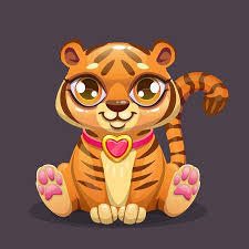 cute animated baby tigers. Fine Animated Little Cute Cartoon Sitting Baby Tiger Icon Stock Photo  102793472 To Cute Animated Baby Tigers I