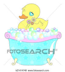 clip art baby duck in bathtub fotosearch search clipart ilration posters