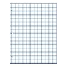 Graph Paper Small School Smart 3 Hole Punched Double Sided Punched Grid Paper 8 1 2 X 11 In 15 Lb 1 4 In Ruling White Pack Of 500