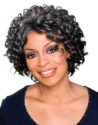 beautiful short curly hairstyle for black women over 50