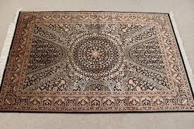 black gold gonbad design qom silk persian rugs pure silk qum persian carpet with the