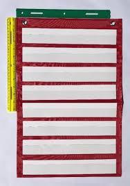 Teacher Pocket Chart Red Classroom Pocket Chart By Happy Teacher 8 Pockets Teaching School Supplies