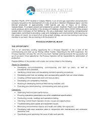 Process Operator Resume Resume For Process Operator Machine Sample Computer Objective 8