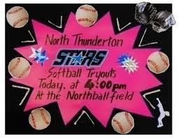 Make A Softball Tryouts Poster School Sport Team Poster Ideas