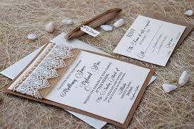 Burlap And Lace Wedding Invitations Lace Wedding Invitation Burlap And Lace Wedding Invitation Etsy