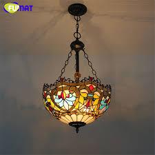 art glass lighting fixtures. FUMAT Stained Glass Pendant Lamp Flower Dragonfly Art Shade Lights Restaurant Living Room Suspension Project Lighting Fixtures