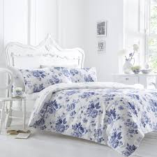 floral duvet covers purple and navy blue watercolor floral chintz