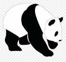 Panda Silhouette Png Panda Head Vector Free Download Clipart
