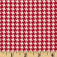 Spotlight Houndstooth Red/White - Discount Designer Fabric - Fabric.com