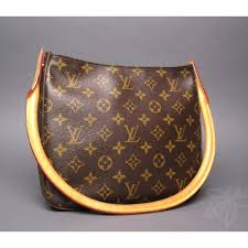 louis vuitton used bags. louis vuitton monogram lv canvas looping mm shoulder bag used bags n