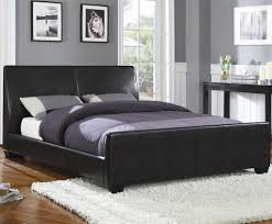 leather queen bed baxton studio monaco modern and contemporary