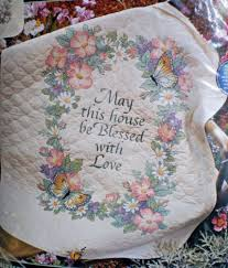 27 best st&ed lap quilts images on Pinterest   Birdhouse ... & Dimensions-Blessed-With-Love-Quit-Stamped-Cross-Stitch- · Dimensions Cross  StitchLap QuiltsCross ... Adamdwight.com