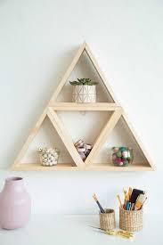 loisdiy multi triangle wood shelf