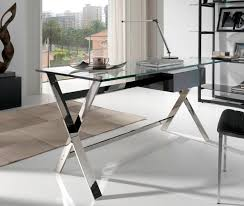 Affordable Modern Office Furniture Interesting Tonelli Bacco Glass Desk Desks Home Office Furniture Inside Modern