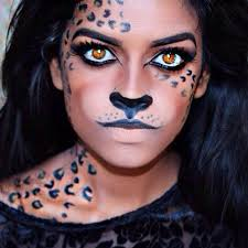 amazing leopard makeup for