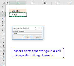 You can do this either by cutting and pasting from a word or text document, or by typing your list in, line by line. Sort Values In A Cell Based On A Delimiting Character Vba