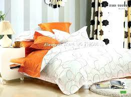 orange duvet cover king orange duvet home design premium cotton white line modern pattern quilt covers