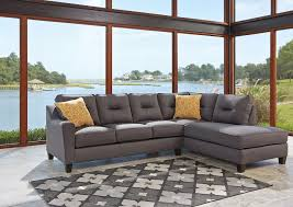 Kurwin 66 17 Sectional Upholstered in a Grey Nuevella Fabric