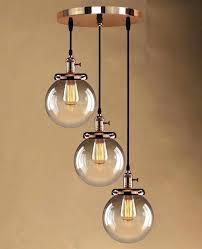 diy globe light globe pendant light retro vintage cer hanging ceiling lights 3 glass shades lamp diy globe light