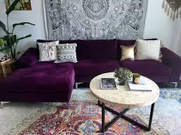 purple living room sofas