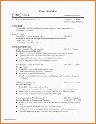 Resume Resume Objective Sample Biology Examples Wildlife
