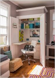 small home office 5. 5. Or Employ Any Corner In Your Living Room By Building A Hideaway Home Office Inside Shallow Closet With Fold Out Desk Small 5