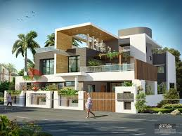 simple elegant exterior design of indian bungalow