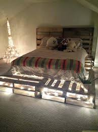 bed frame pallets double built from twin made out of