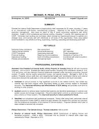 Internal Auditor Resume Examples Resume And Cover Letter Resume