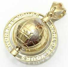 is yours spinning earth globe pendant