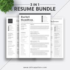 2019 Best Selling Resume Bundle The Rachel Rb Simple Job Resume Template Professional Modern Curriculum Vitae Cover Letter Word Resume Design