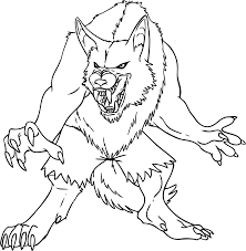 Small Picture Werewolf Coloring Page Coloring Home