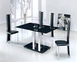 glass dining table and 4 chairs glass dining table sets 4 best black glass dining table