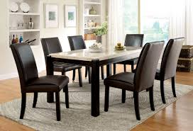 Marble Top Kitchen Table Set Furniture Of America Cm3823t Cm3823sc Gladstone I 7 Pieces